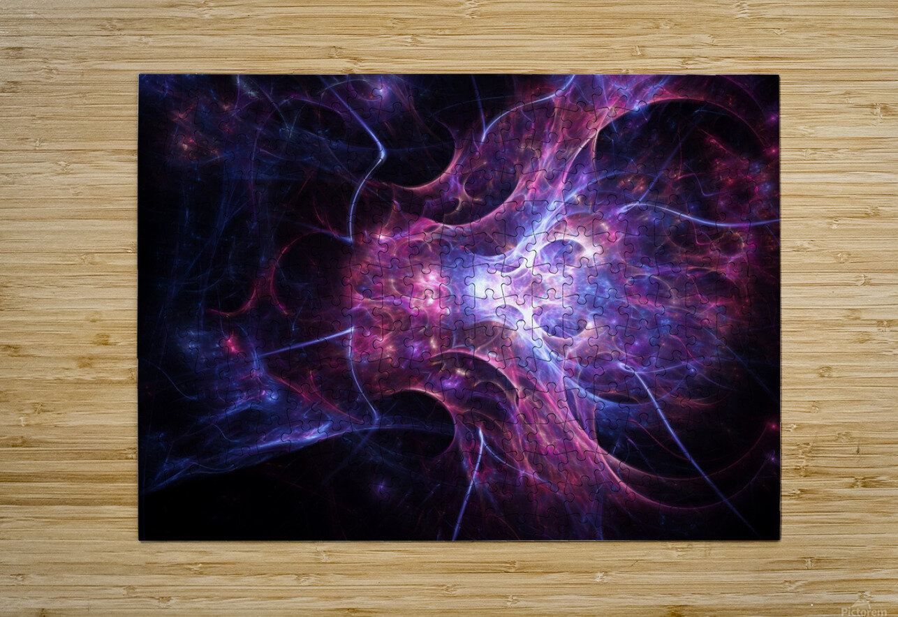 Exploration e  HD Metal print with Floating Frame on Back