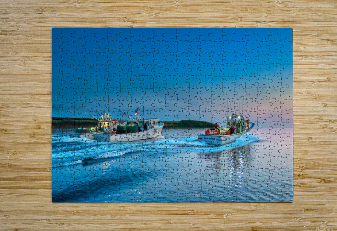 2019 Inshore crab opener - Cheticamp  HD Metal print with Floating Frame on Back