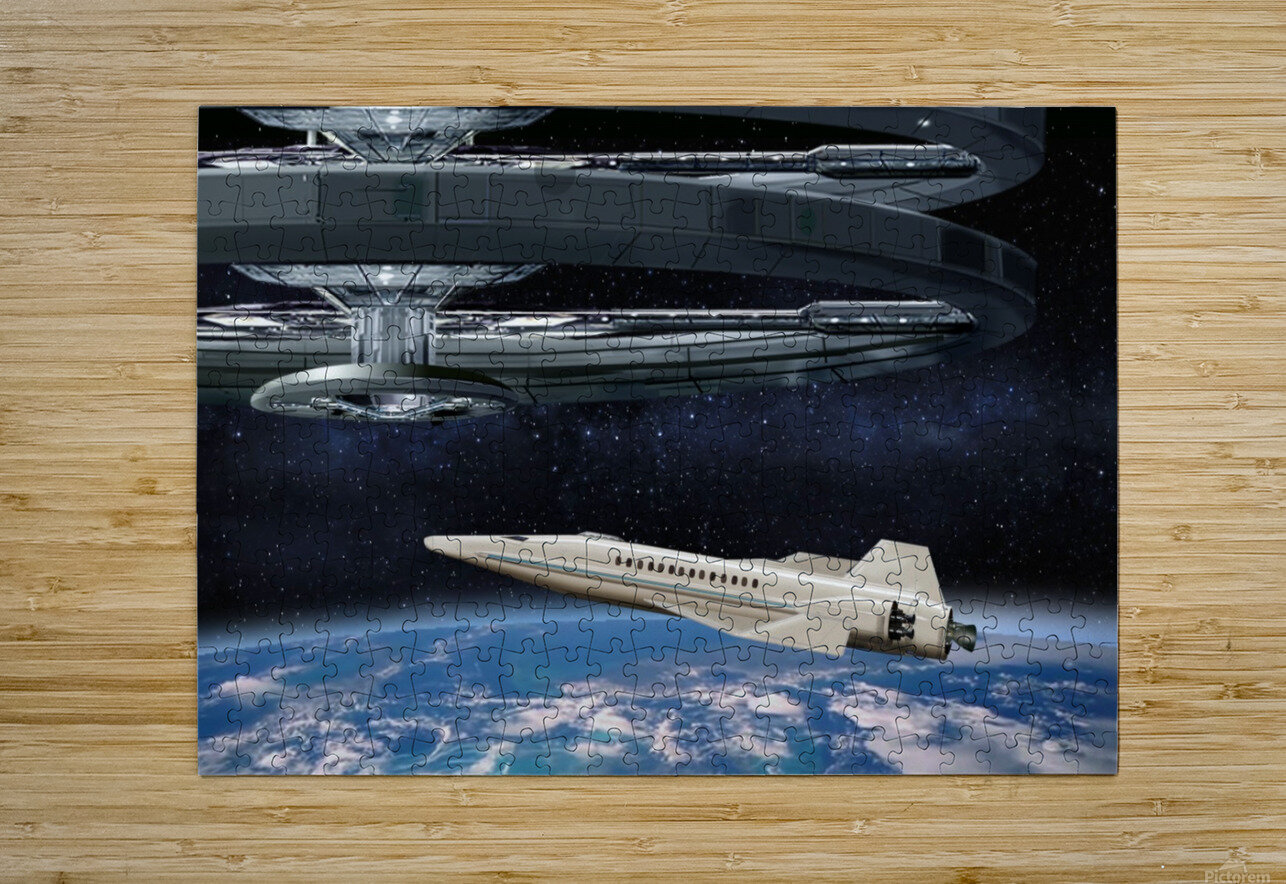 Shuttle104  HD Metal print with Floating Frame on Back