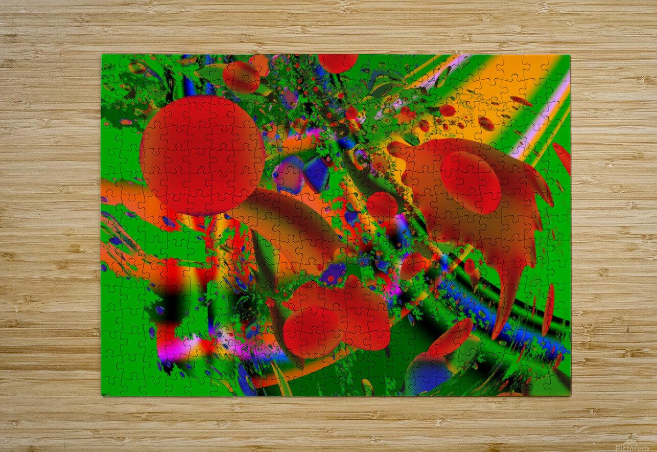 Tangerine_Island_7  HD Metal print with Floating Frame on Back