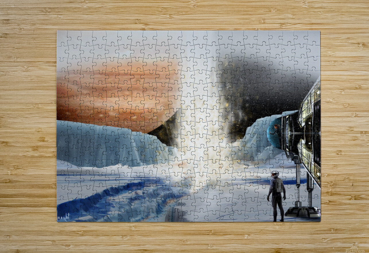 Geyser on Europa  HD Metal print with Floating Frame on Back