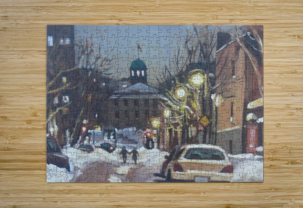McGill Ghetto Night Scene  HD Metal print with Floating Frame on Back