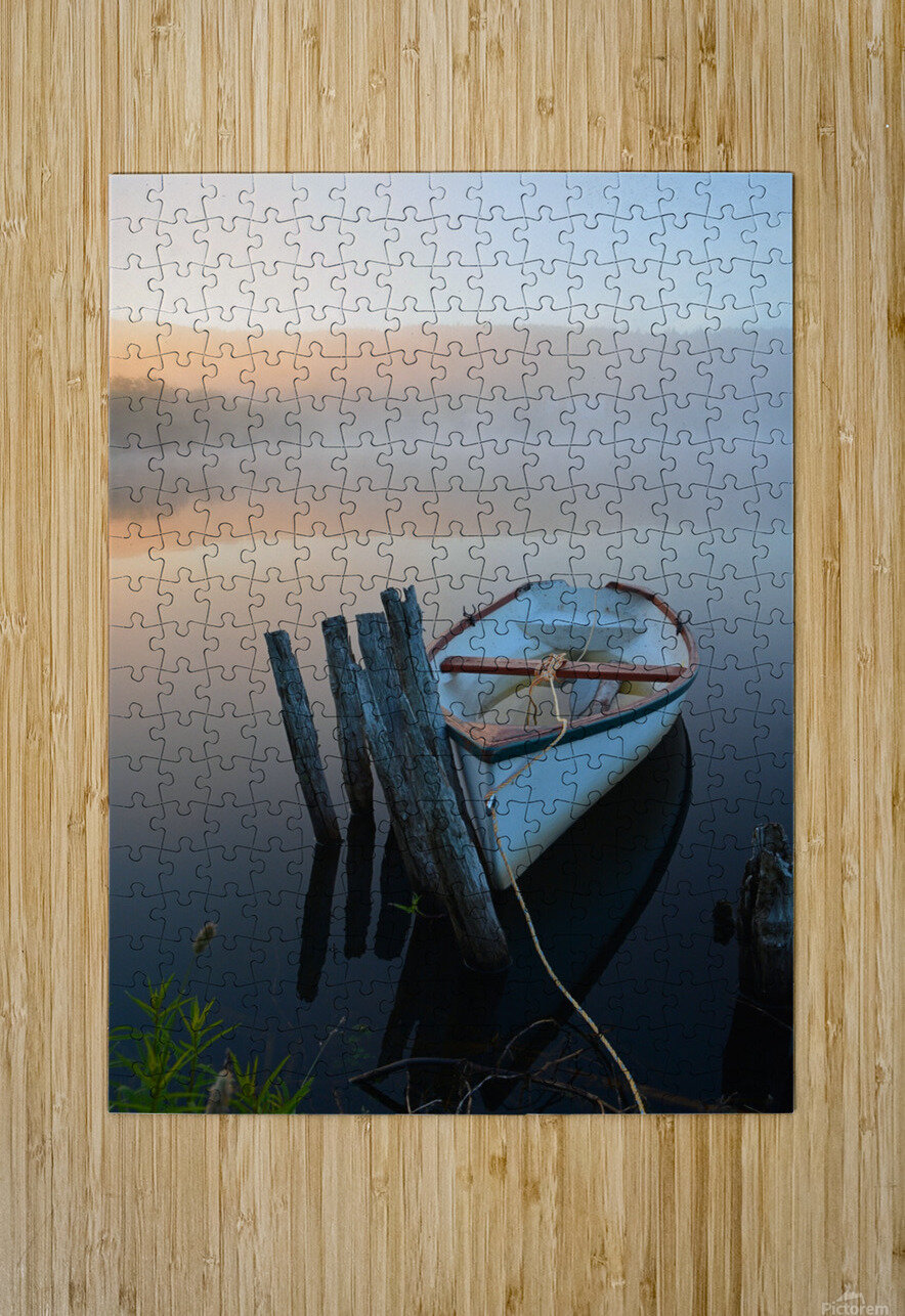 Morning Tranquility  HD Metal print with Floating Frame on Back