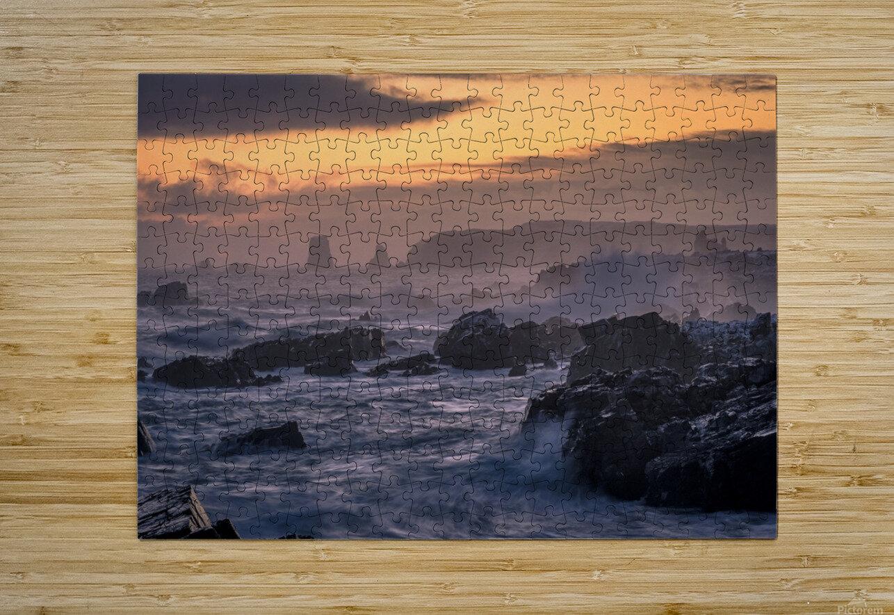 Unforgiving Seas  HD Metal print with Floating Frame on Back
