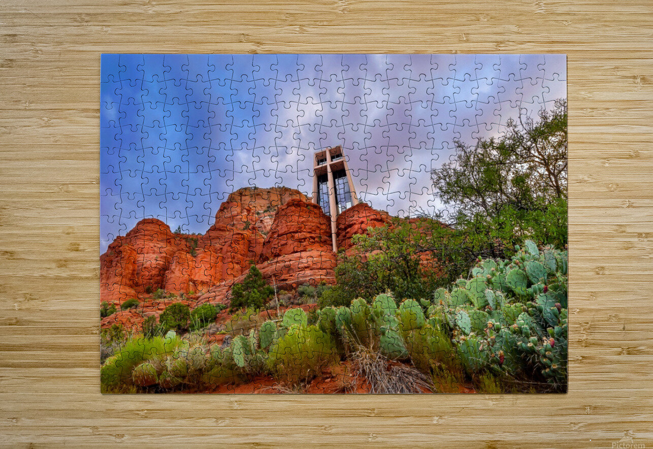 Chapel of the Holy Cross  HD Metal print with Floating Frame on Back