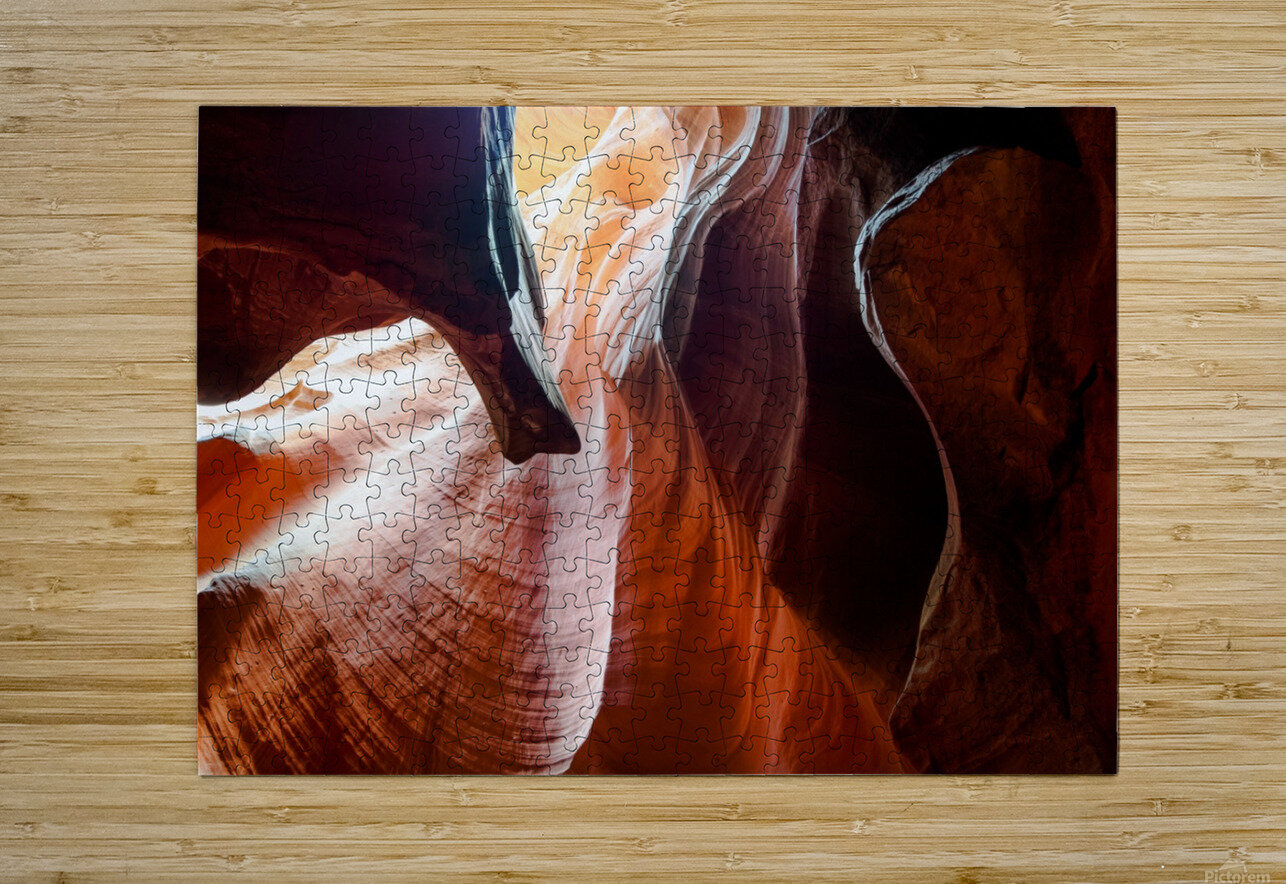 Upper Antelope Canyon 3  HD Metal print with Floating Frame on Back