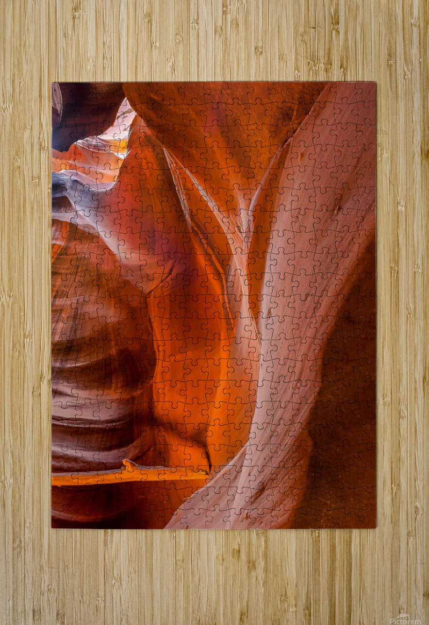 Upper Antelope Canyon 4  HD Metal print with Floating Frame on Back