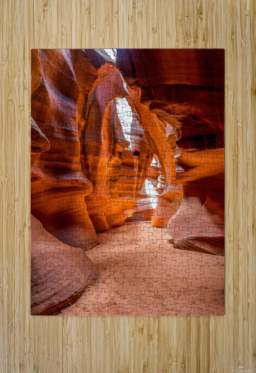 Upper Antelope Canyon 10  HD Metal print with Floating Frame on Back