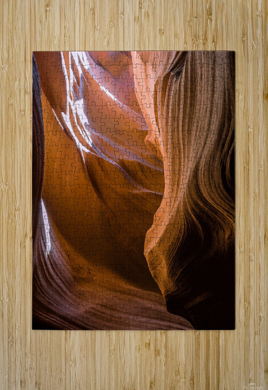 Upper Antelope Canyon 12  HD Metal print with Floating Frame on Back