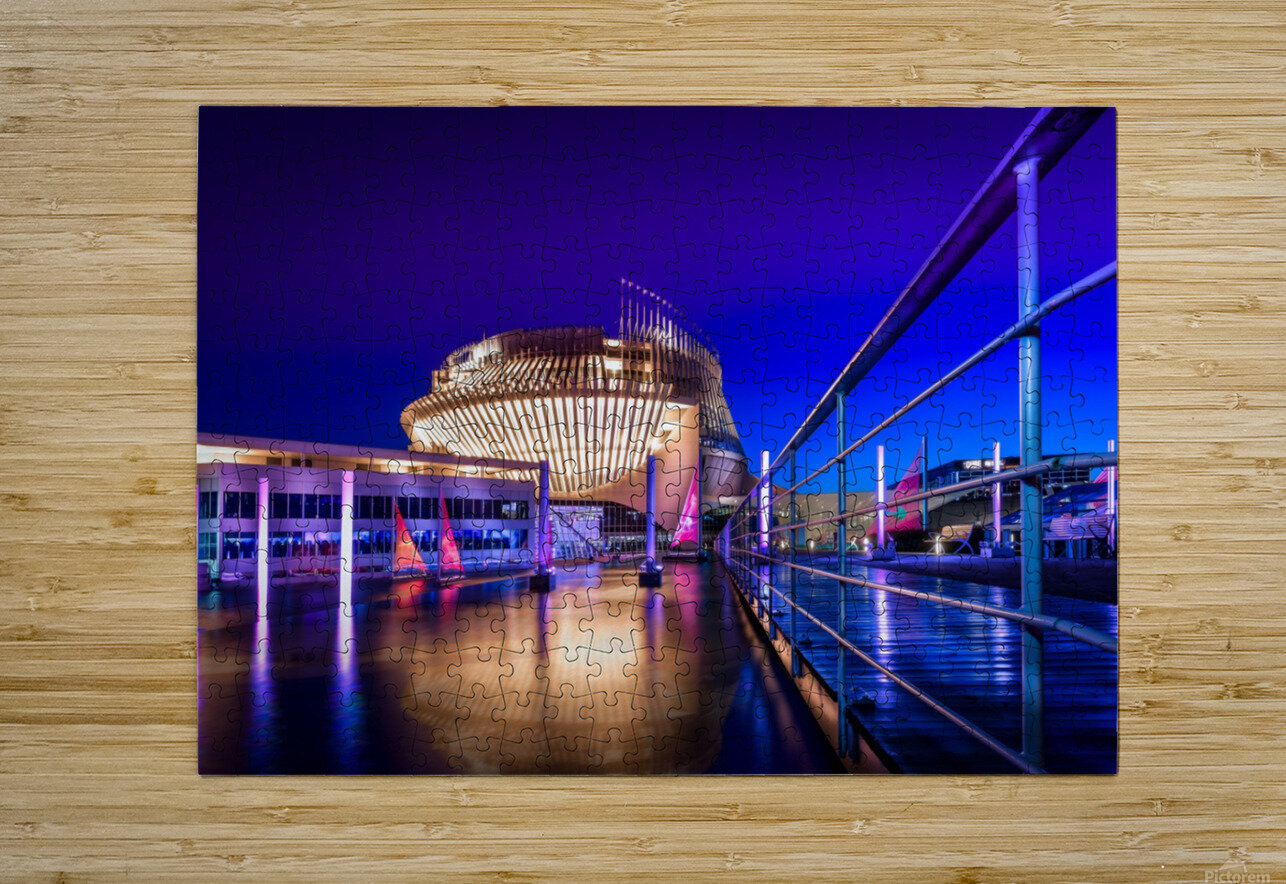 Montreal Casino At Night  HD Metal print with Floating Frame on Back