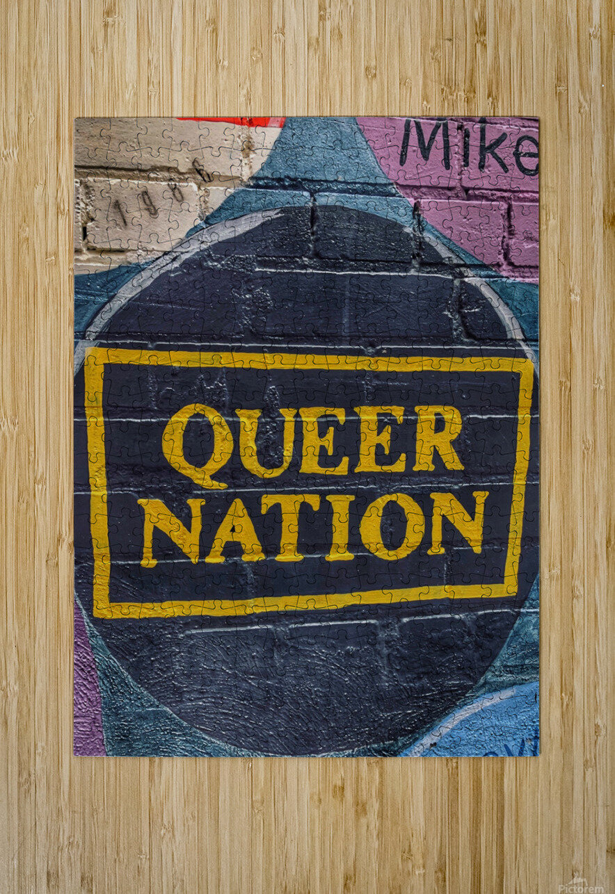 Queer Nation - Toronto  HD Metal print with Floating Frame on Back