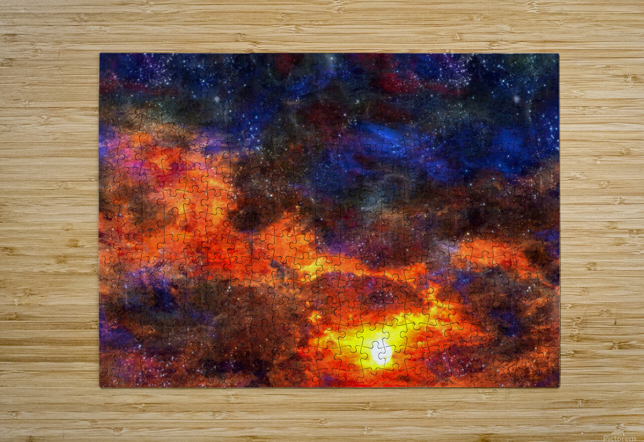 Twilight Scene  HD Metal print with Floating Frame on Back