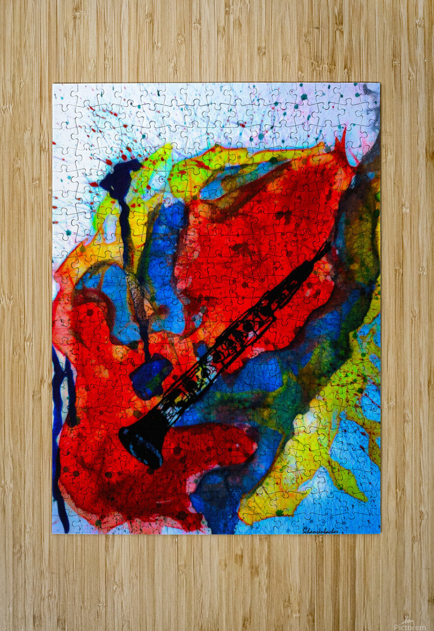 Clarinet electrified  HD Metal print with Floating Frame on Back