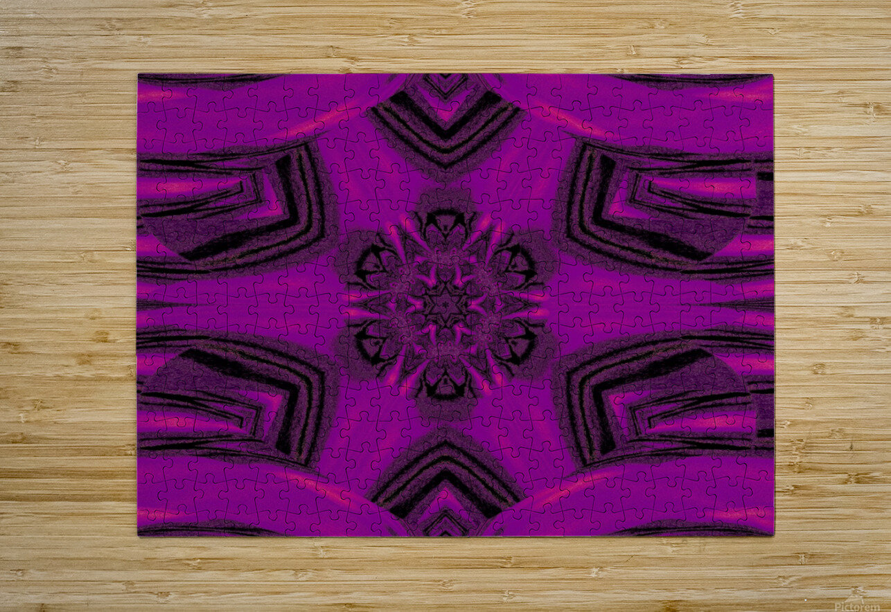 Purple Desert Song 37  HD Metal print with Floating Frame on Back