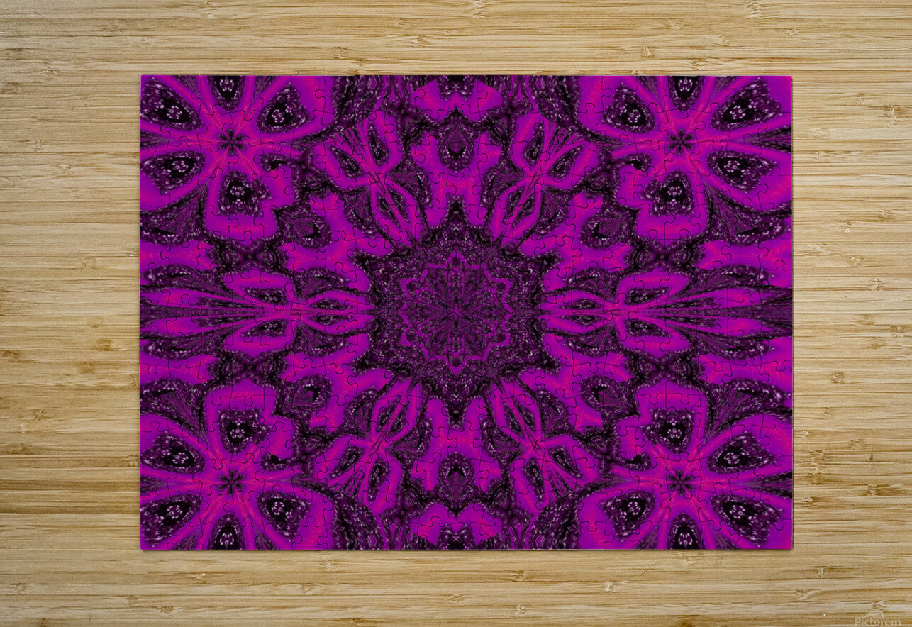 Purple Desert Song 38  HD Metal print with Floating Frame on Back