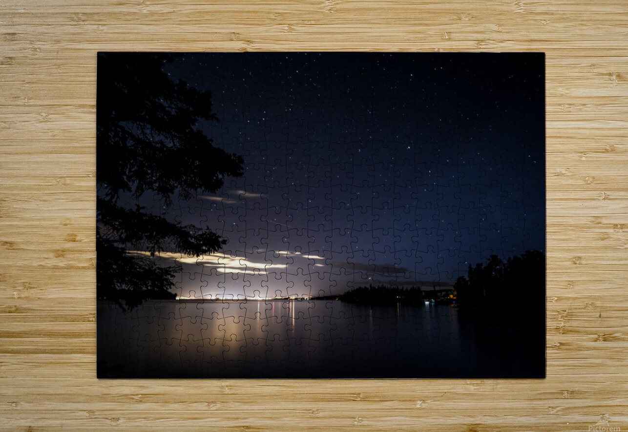 City Stars  HD Metal print with Floating Frame on Back