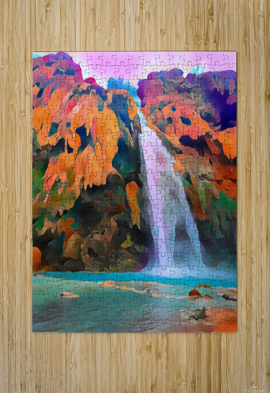 Havasupai Waterfall  HD Metal print with Floating Frame on Back