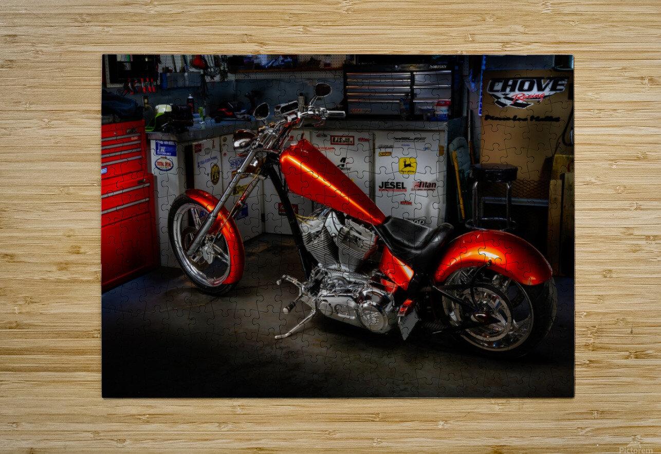 Bike Edit  HD Metal print with Floating Frame on Back