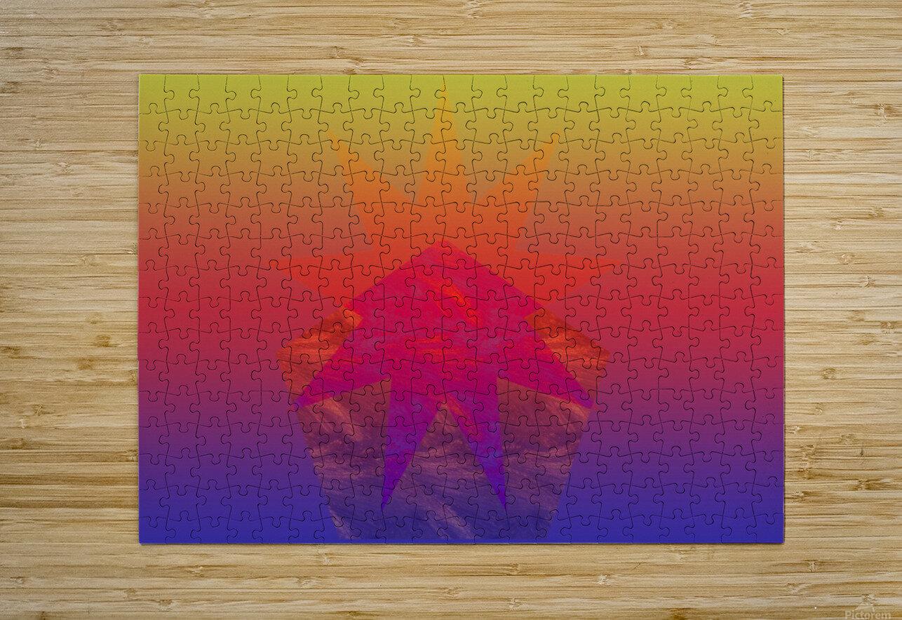 Polygon & Star V4  HD Metal print with Floating Frame on Back