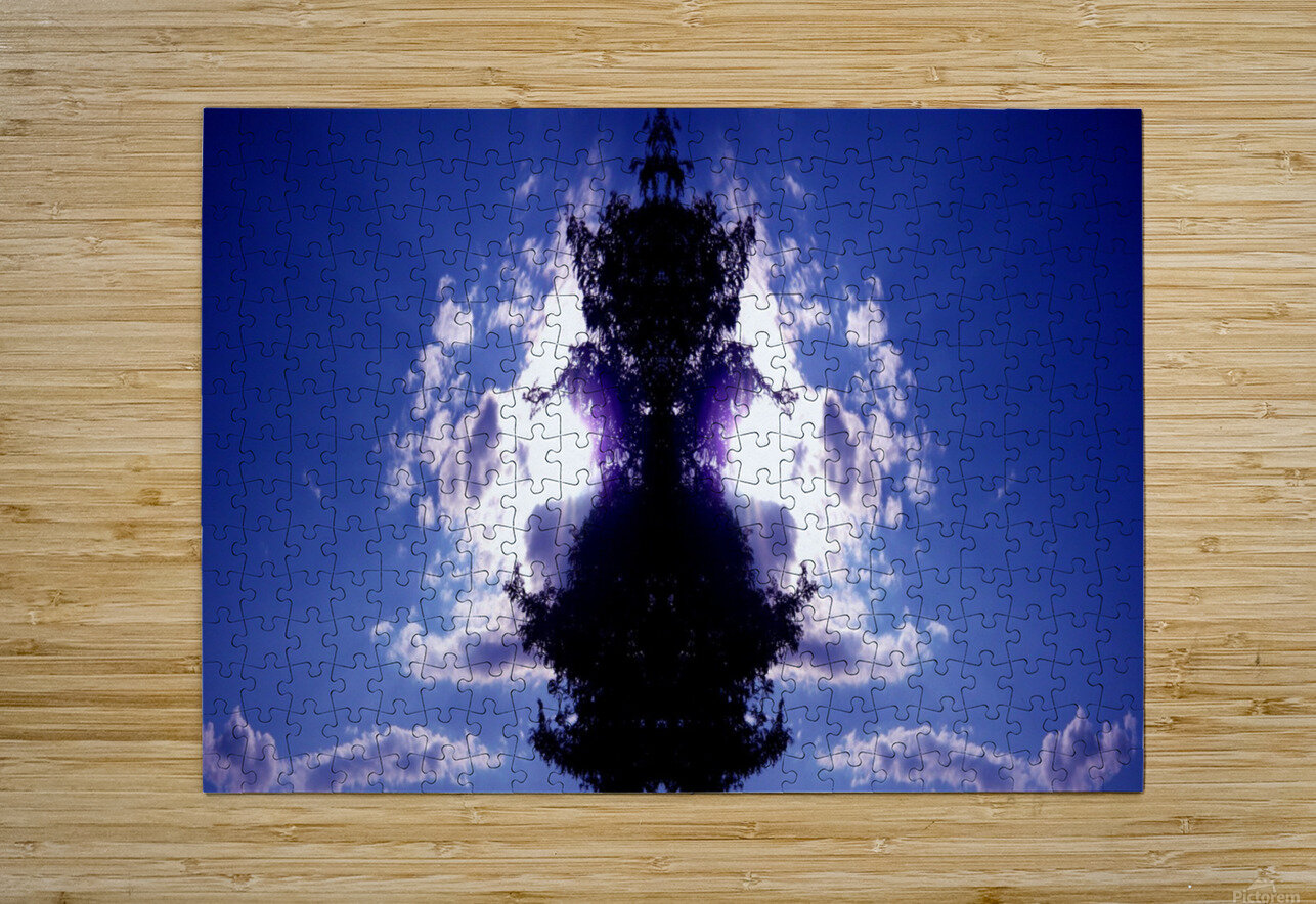 blue 2  HD Metal print with Floating Frame on Back