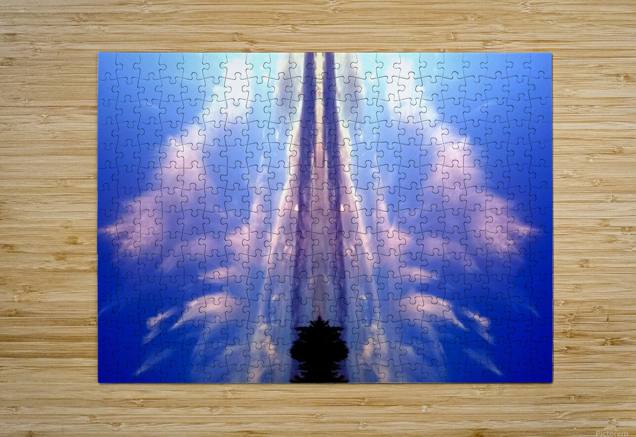 Cloud 60  HD Metal print with Floating Frame on Back