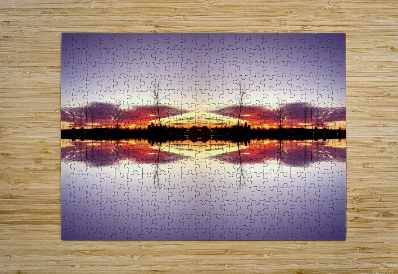 Sky 5  HD Metal print with Floating Frame on Back