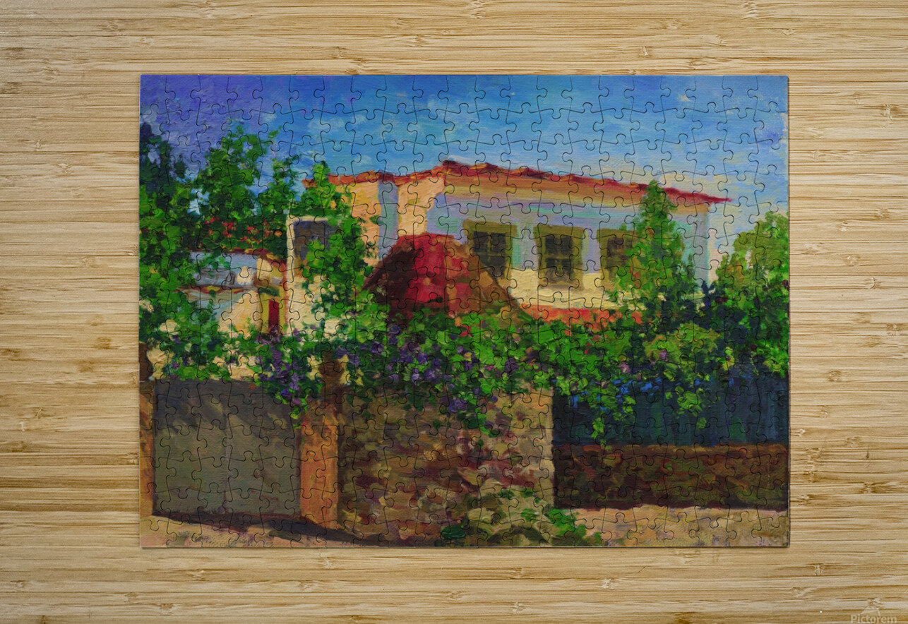 Little_Spanish_House  HD Metal print with Floating Frame on Back