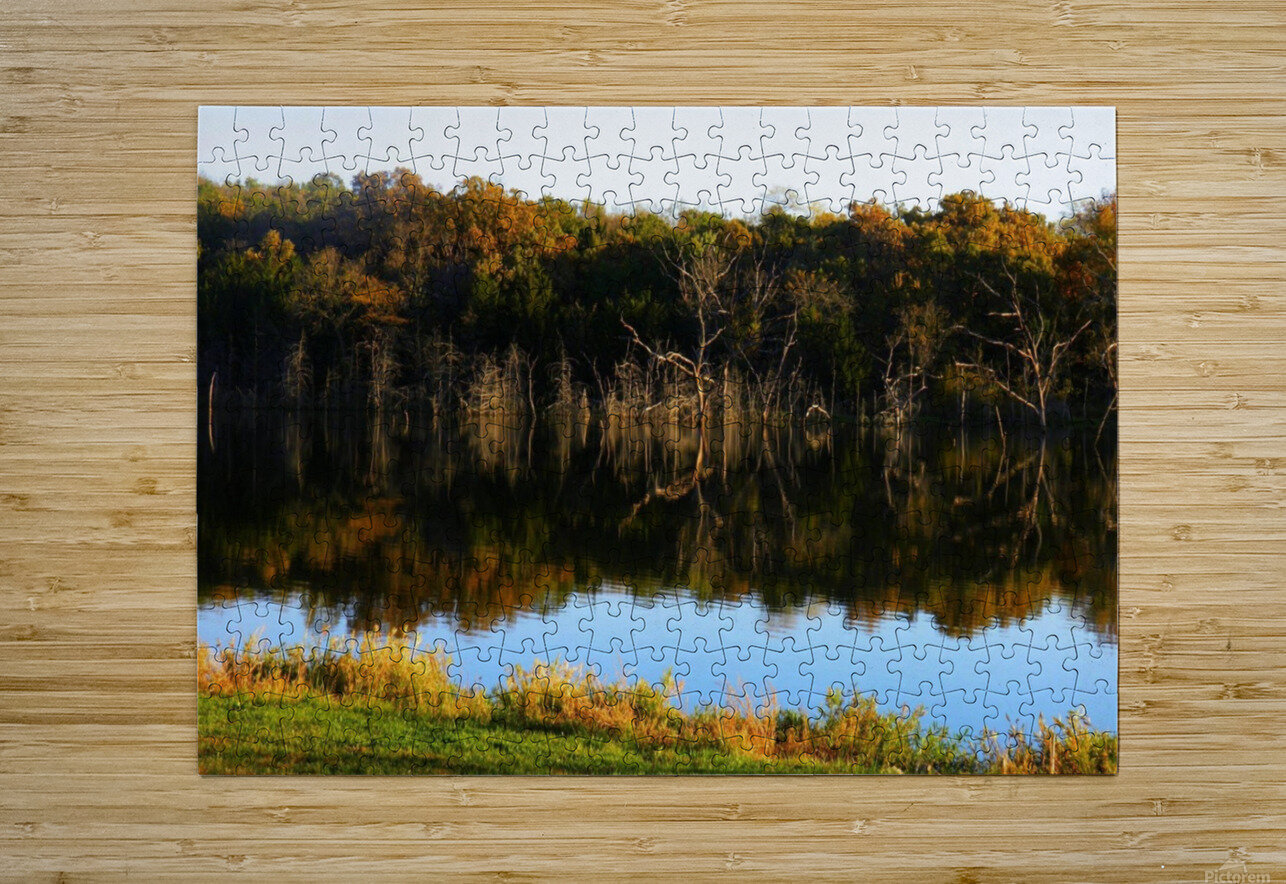 Fall Lake  HD Metal print with Floating Frame on Back