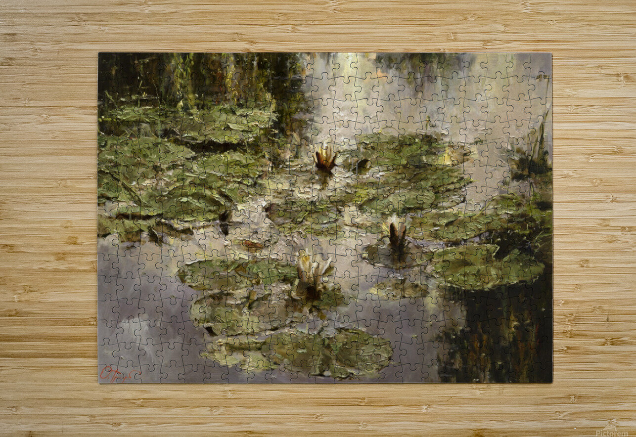 Old_pond  HD Metal print with Floating Frame on Back