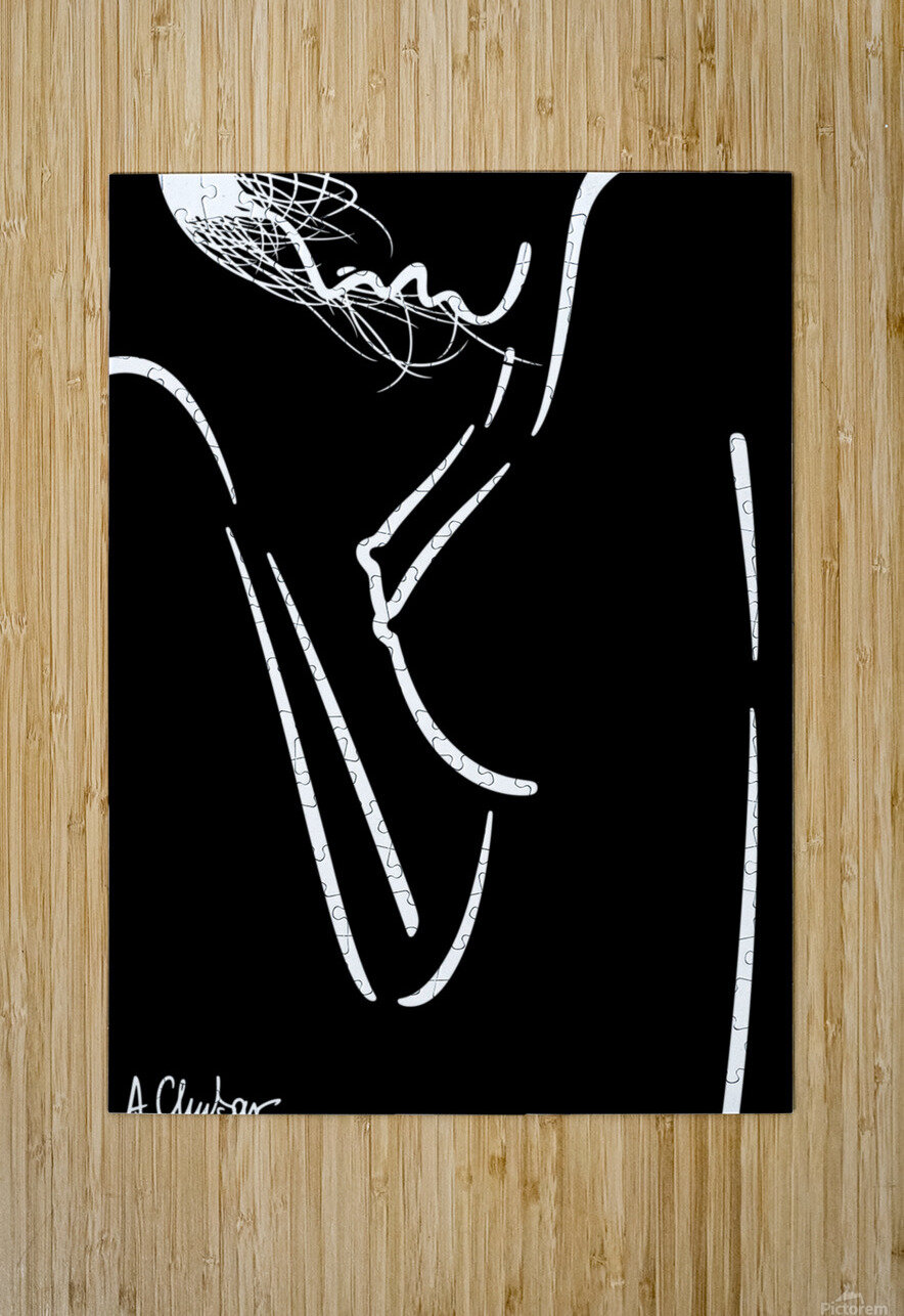 Nude 20  HD Metal print with Floating Frame on Back