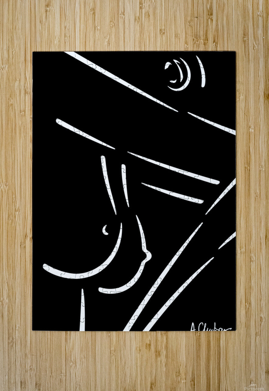 Nude 23  HD Metal print with Floating Frame on Back