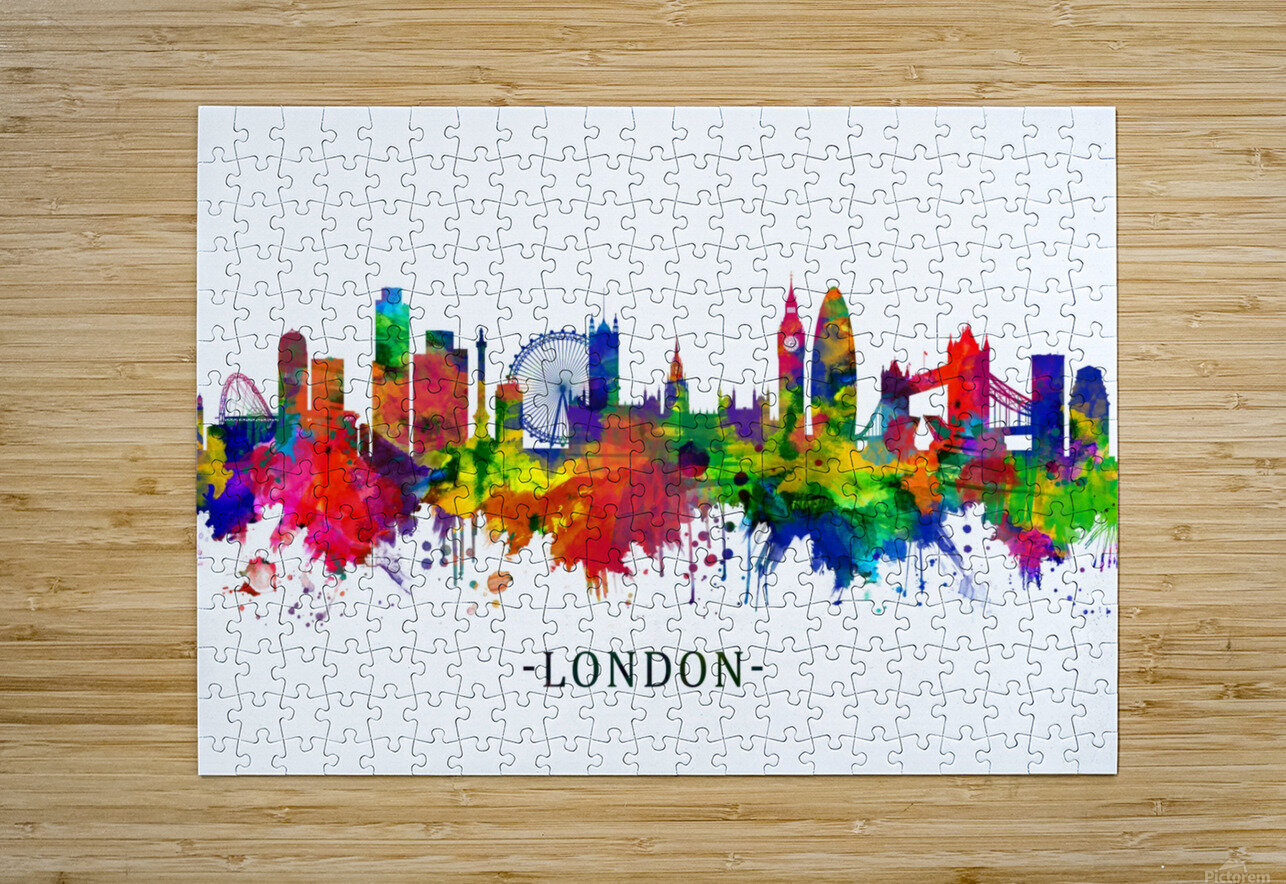 London England Skyline  HD Metal print with Floating Frame on Back
