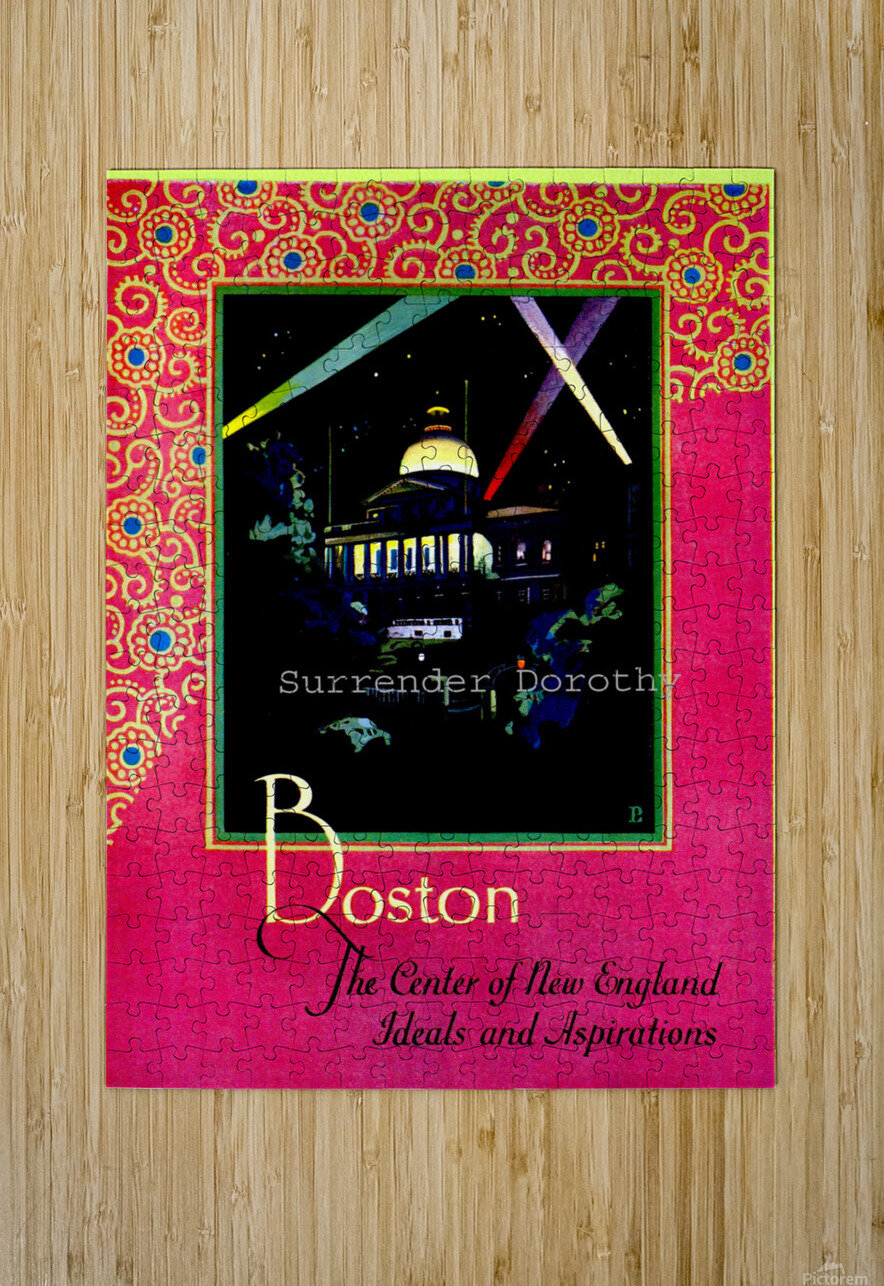 Boston USAEdited  HD Metal print with Floating Frame on Back