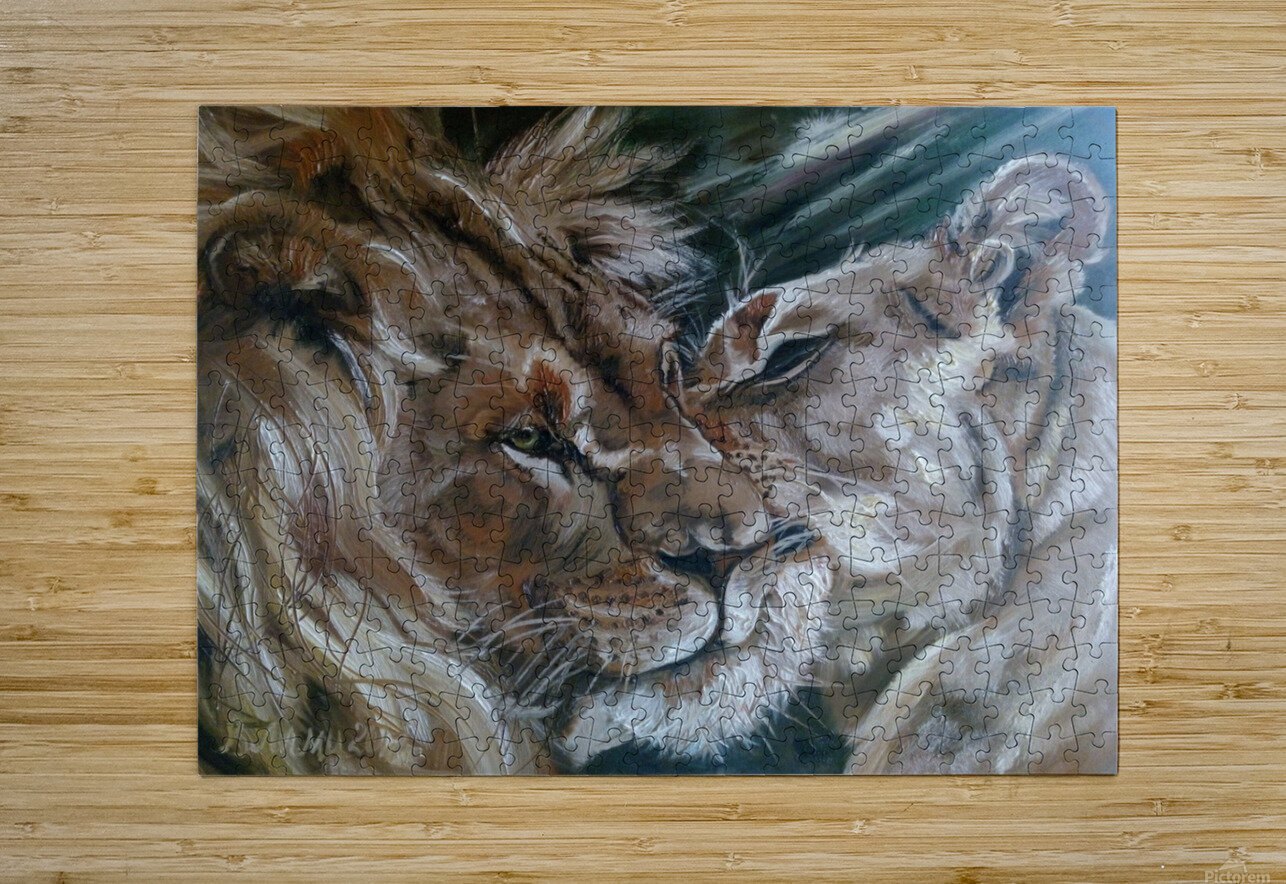 Leos. Tenderness.  HD Metal print with Floating Frame on Back