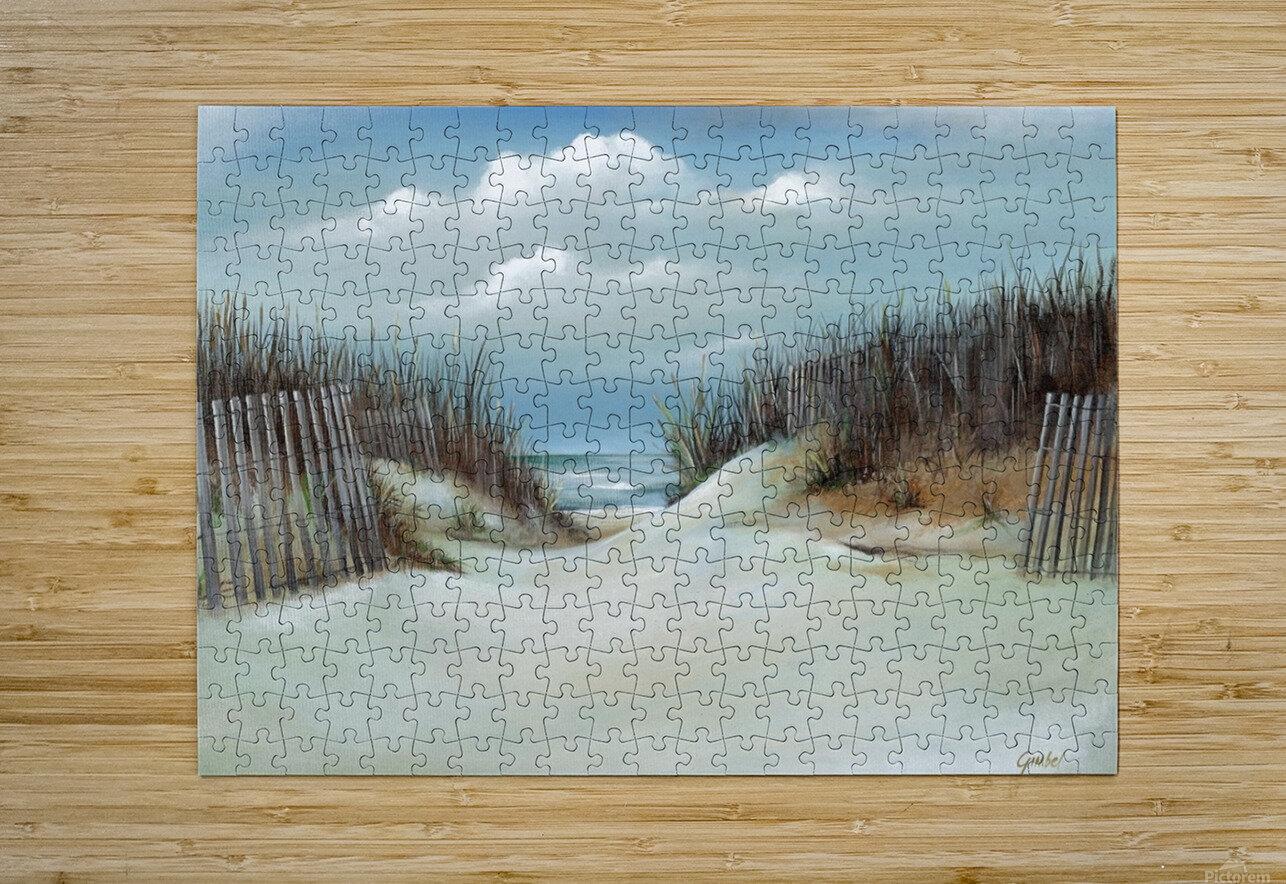 Sand dunes  HD Metal print with Floating Frame on Back