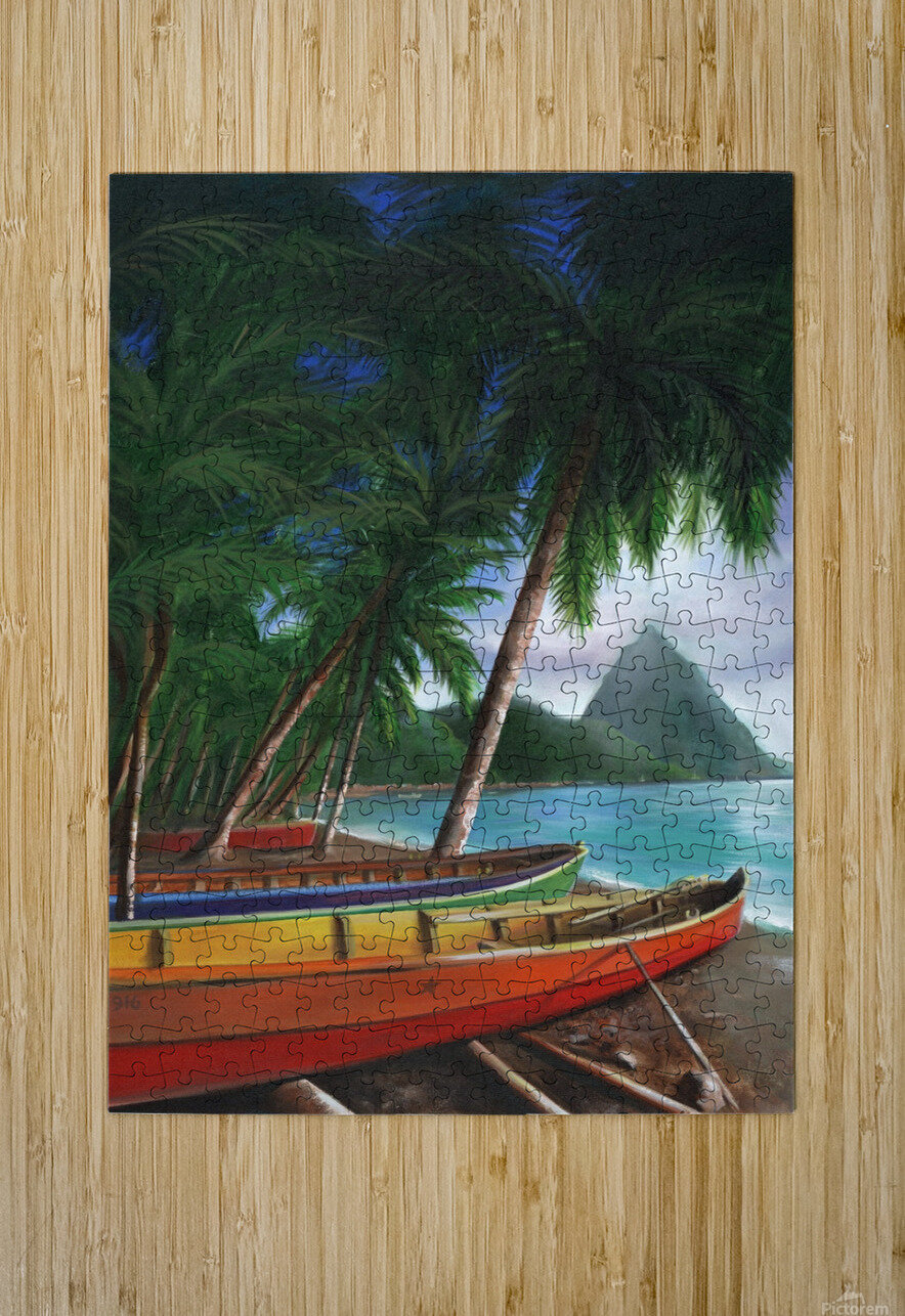 St. Lucia  HD Metal print with Floating Frame on Back
