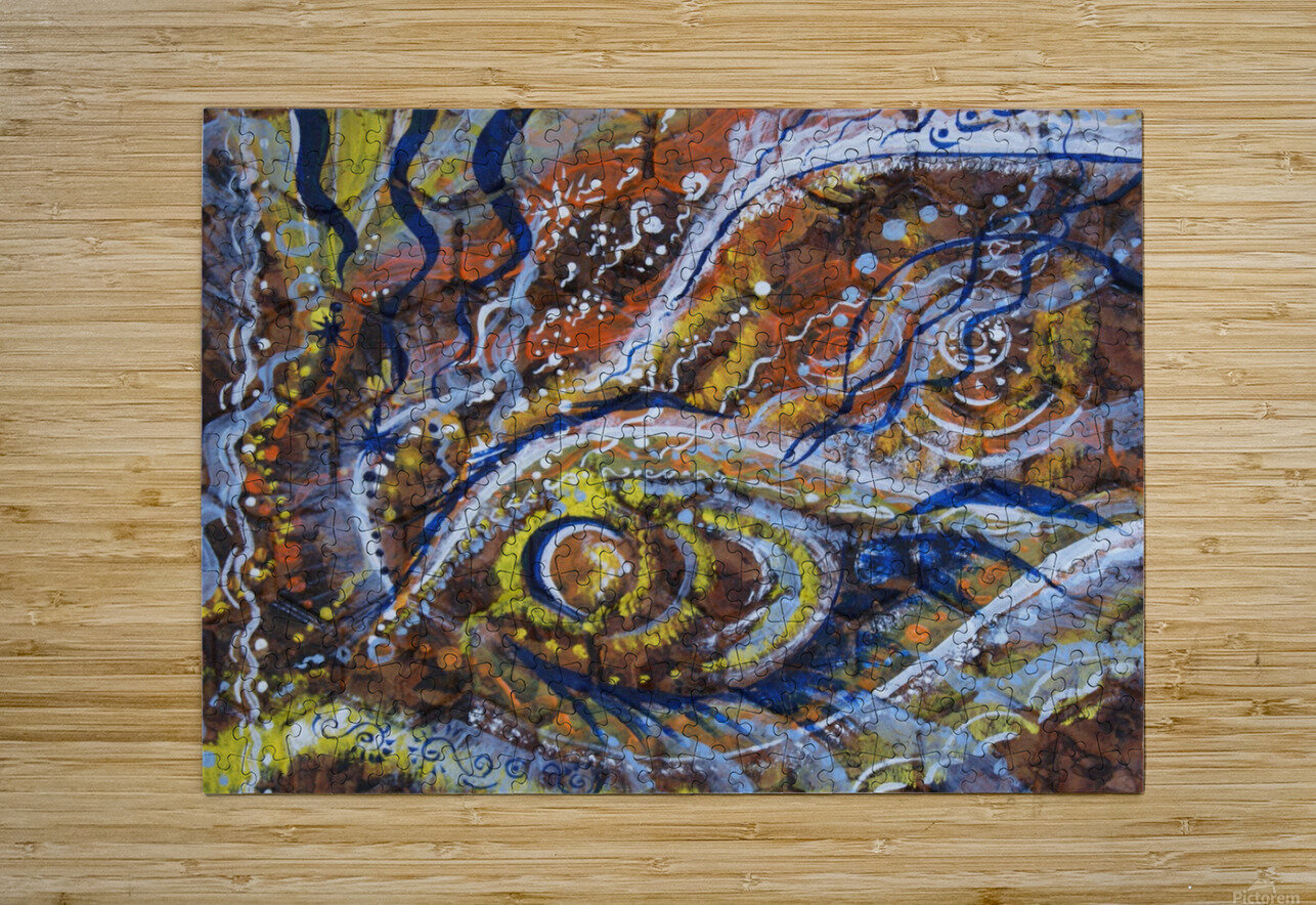 A celebration of Cedar from the Shamanic dance  HD Metal print with Floating Frame on Back