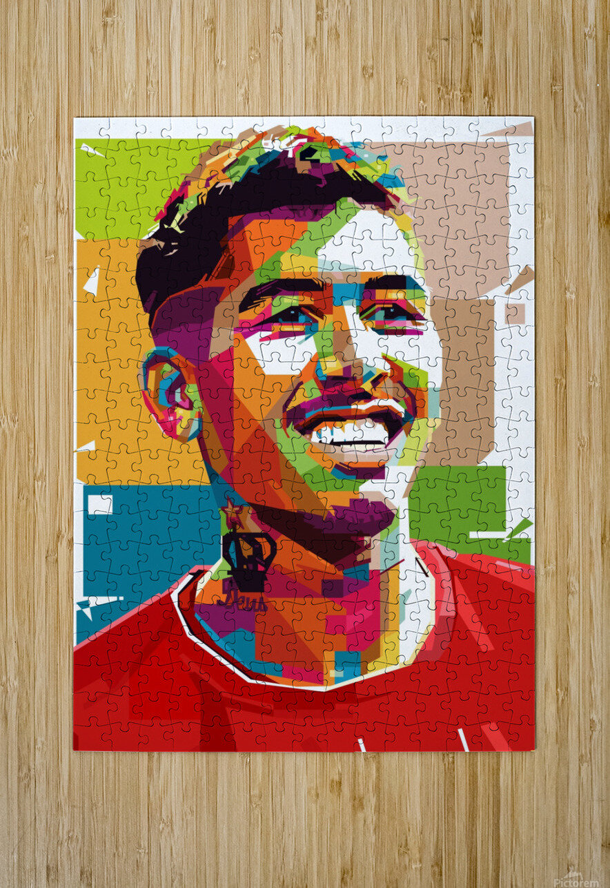 Roberto firmino  HD Metal print with Floating Frame on Back