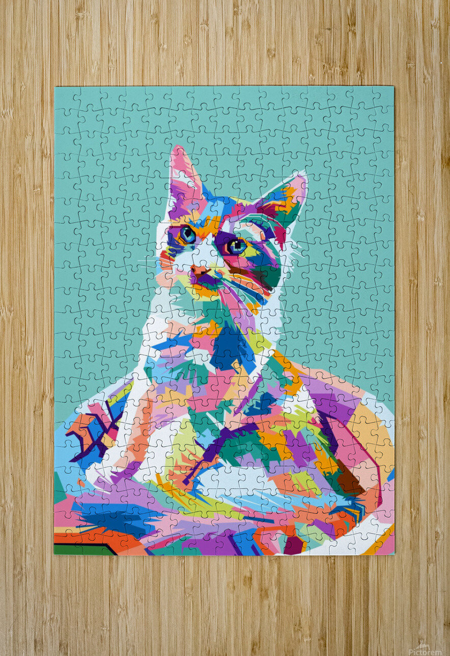 cats  HD Metal print with Floating Frame on Back