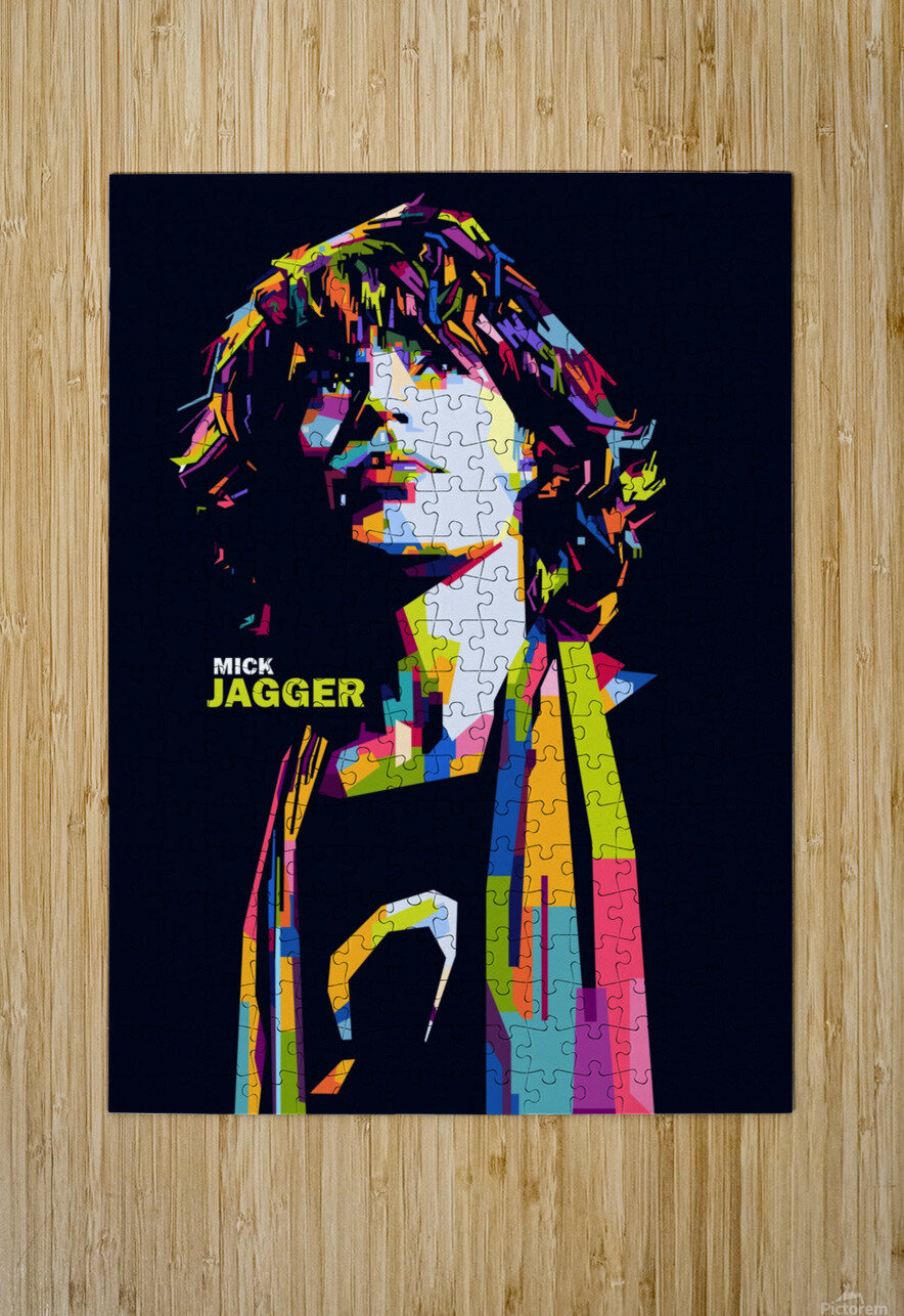 mick jagger  HD Metal print with Floating Frame on Back