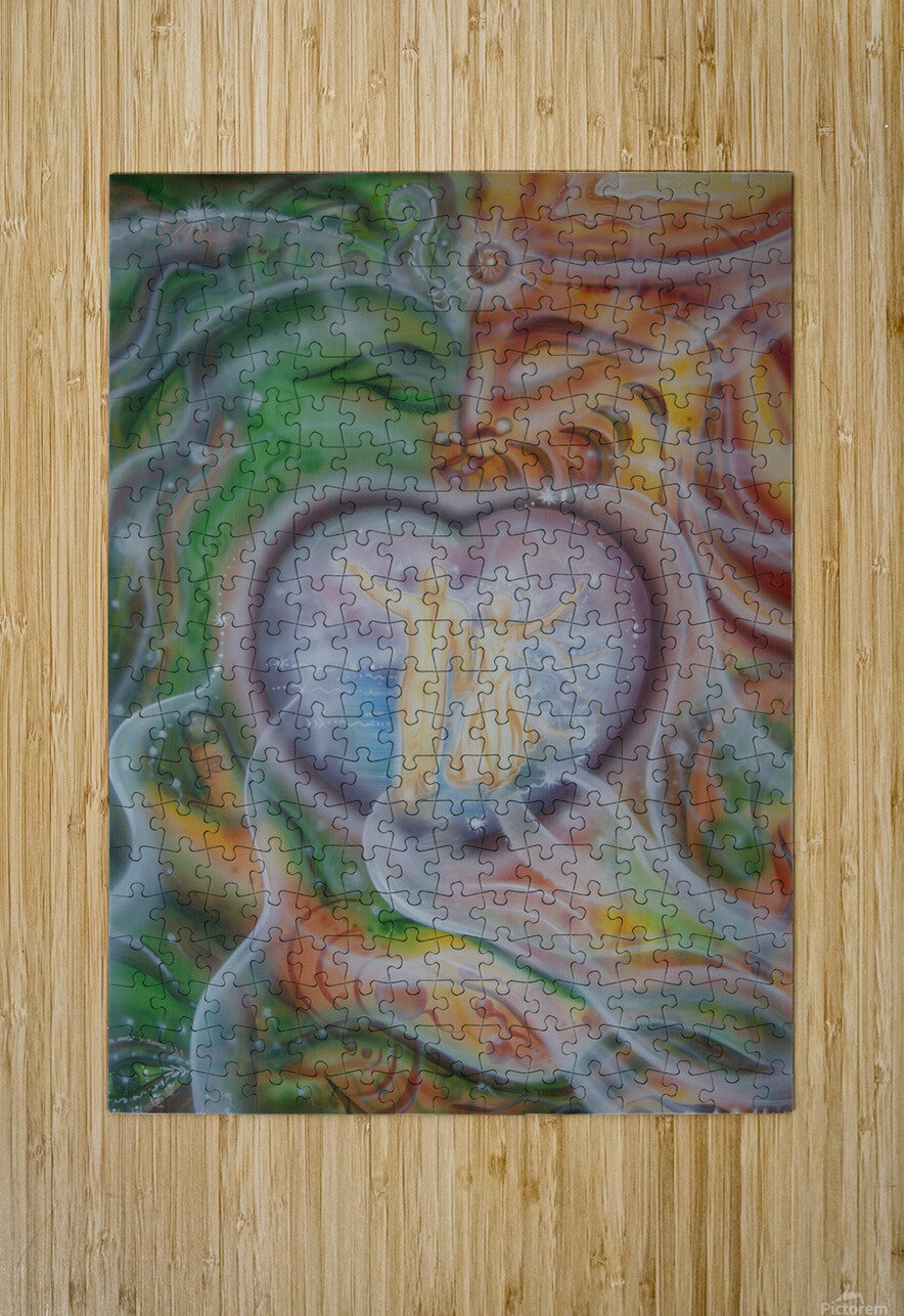 Amulet for love  HD Metal print with Floating Frame on Back