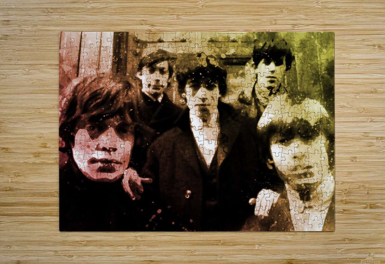 Rolling stones  HD Metal print with Floating Frame on Back