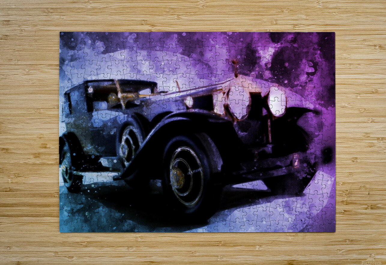 car vintage  HD Metal print with Floating Frame on Back