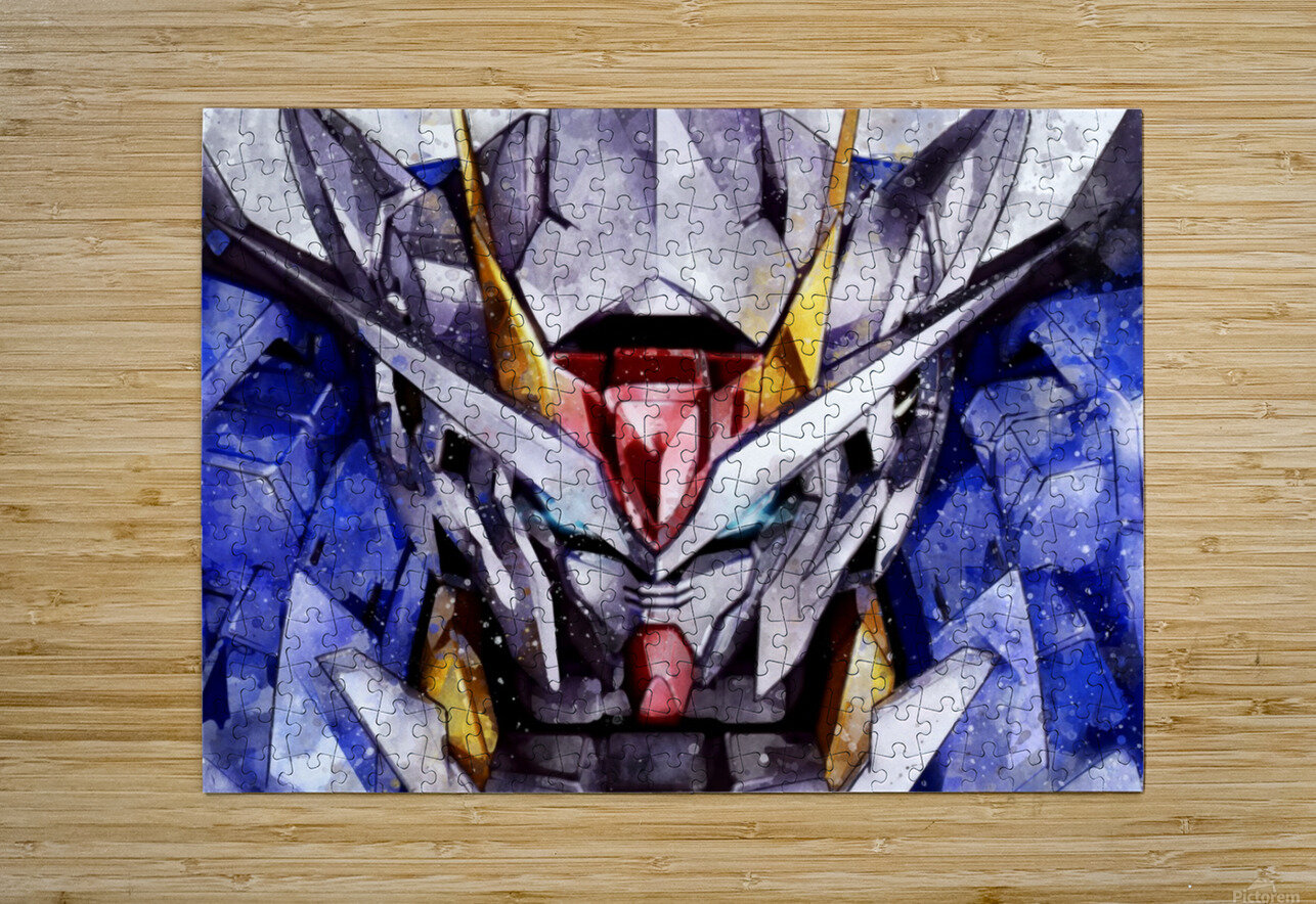 Gundam  HD Metal print with Floating Frame on Back