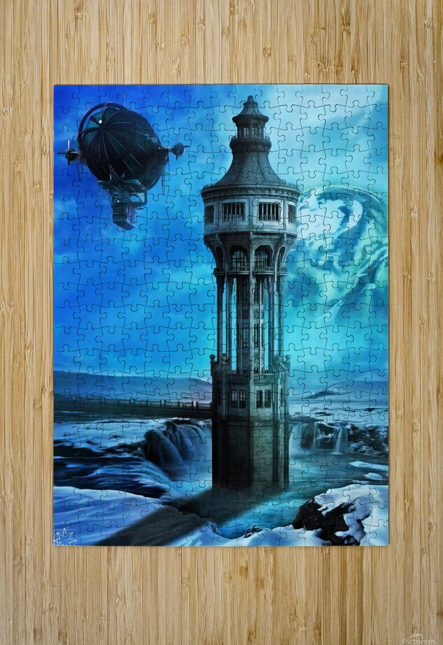 The North Tower  HD Metal print with Floating Frame on Back