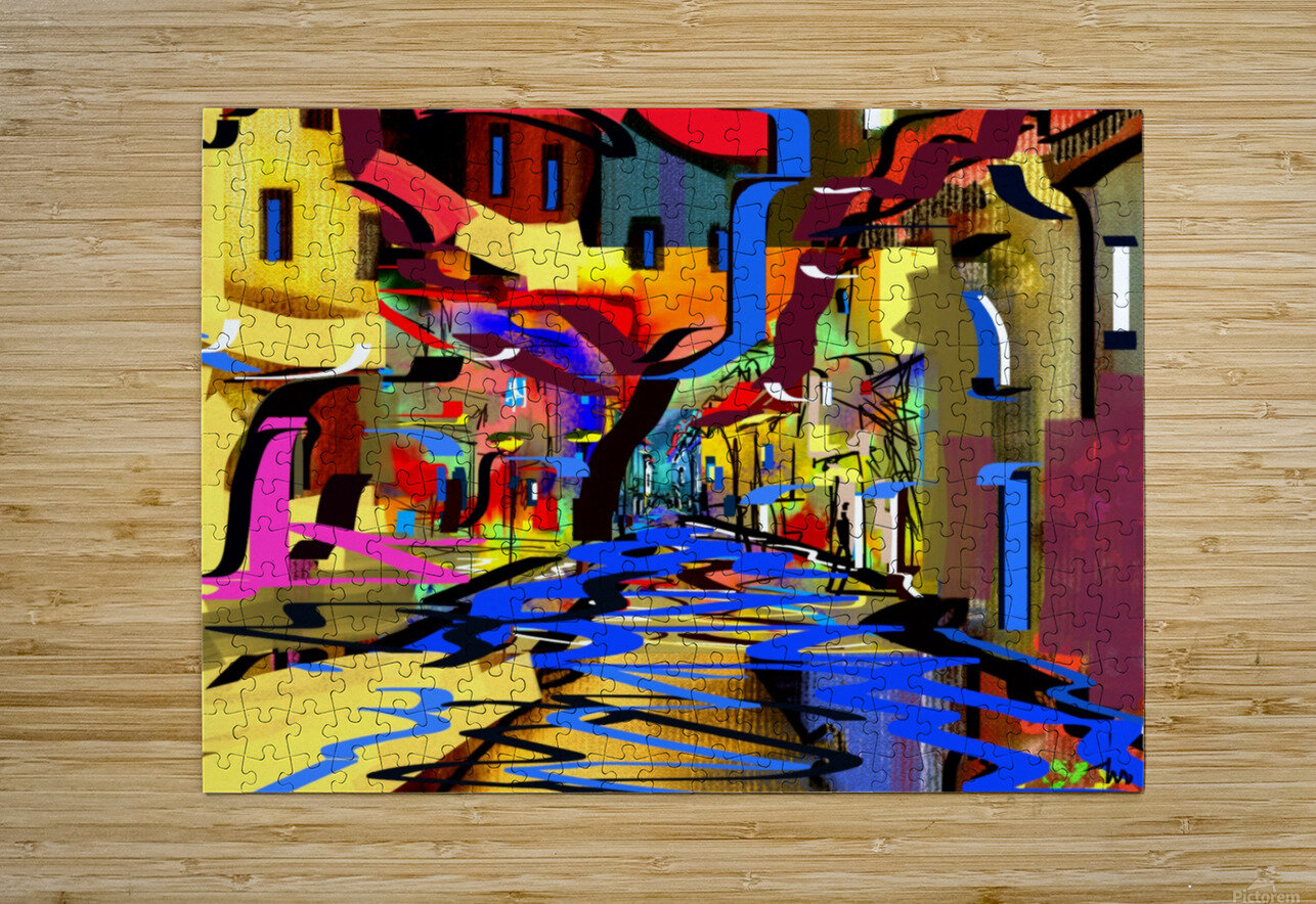 0210  HD Metal print with Floating Frame on Back