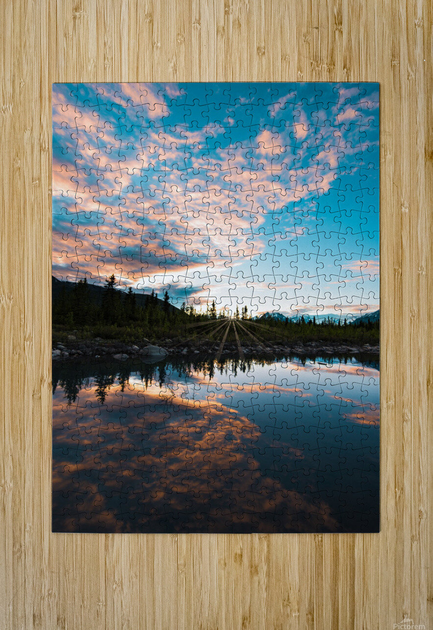 Sunset Reflection  HD Metal print with Floating Frame on Back