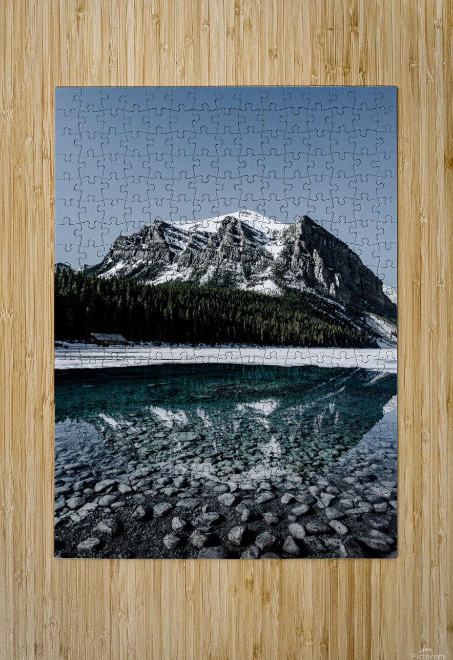 Lake Louise Reflection  HD Metal print with Floating Frame on Back
