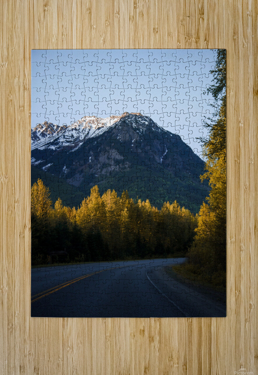 Scenic Drive  HD Metal print with Floating Frame on Back