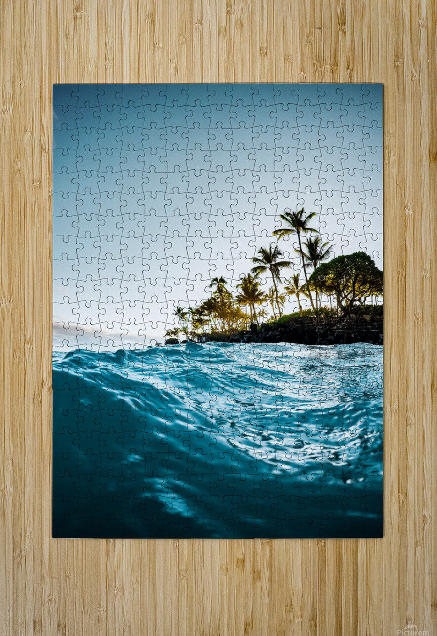 Blue Morning  HD Metal print with Floating Frame on Back